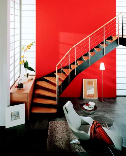 sơn màu cho cầu thang